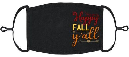 """Happy Fall Y'all"" Fabric Face Mask"