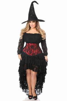 Lavish 4 PC Lace Witch Corset Costume - IN STOCK