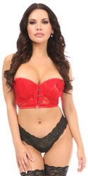 Lavish Red Lace Underwire Short Bustier - IN STOCK