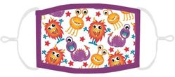 LITTLE KIDS SIZE - Silly Monsters Fabric Mask