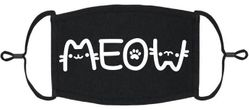 """""""Meow"""" Fabric Face Mask"""