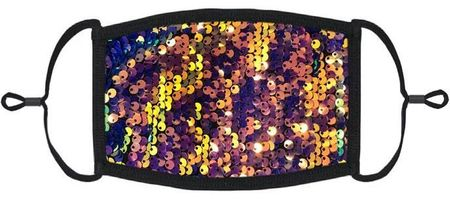Multi Sequin Fabric Face Mask