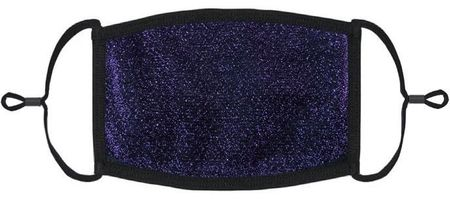 Navy Blue Glitter Fabric Face Mask