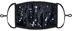 YOUTH SIZE - Black/Silver Flip Sequin Face Mask