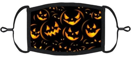 Scary Pumpkins Fabric Face Mask