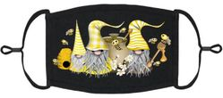 Bees Gnomes Fabric Face Mask