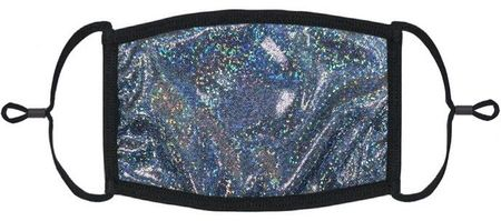 YOUTH SIZE - Dark Silver Hologram Face Mask