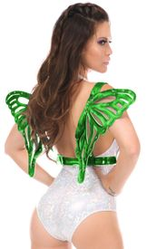 Green Holo Large Butterfly Wing Body Harness - IN STOCK