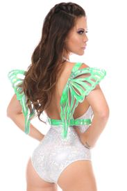 Mint Green Holo Large Butterfly Wing Body Harness - IN STOCK