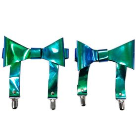 Teal/Blue Holo Garters (set of 2) - IN STOCK