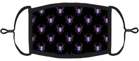 Purple Spiders Fabric Face Mask