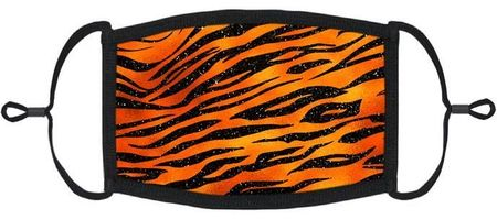 Orange Tiger Fabric Face Mask