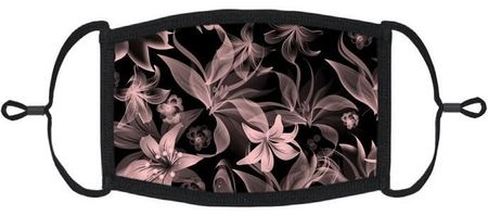 Pink Lilies Fabric Face Mask
