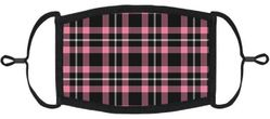 Pink Plaid Fabric Face Mask