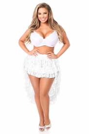 White Lace High Low Lace Skirt - IN STOCK