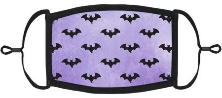 Purple Bats Fabric Face Mask