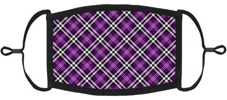 Purple Plaid Fabric Face Mask