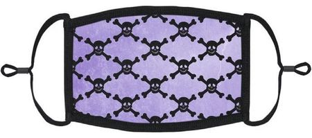Purple Skulls Fabric Face Mask