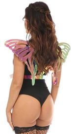 Rainbow Gold Holo Body Harness w/Wings - IN STOCK