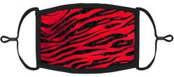 Red Animal Print Fabric Face Mask