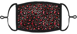Red Cheetah Fabric Face Mask