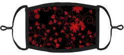 Red Floral Fabric Face Mask