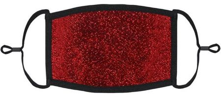 Red Glitter Fabric Face Mask