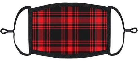 Red Plaid Fabric Face Mask