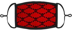 Red Skulls Fabric Face Mask