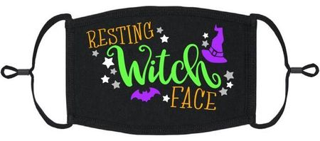 """""""Resting Witch Face"""" Fabric Face Mask"""