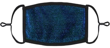 Royal Blue Glitter Fabric Face Mask