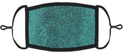 Teal Glitter Fabric Face Mask