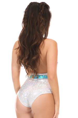 Teal Holo Body Harness