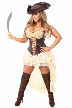 Top Drawer 4 PC Pirate Captain Costume - IN STOCK