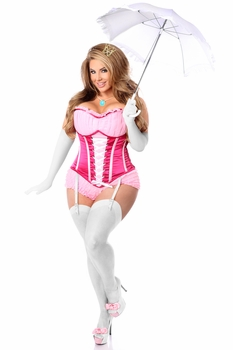 Top Drawer 6 PC Sexy Pink Princess Corset Costume - IN STOCK