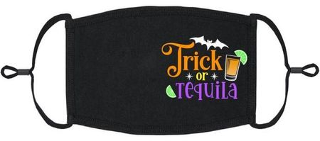 """Trick or Tequila"" Fabric Face Mask"