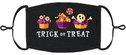 Trick or Treat Fabric Face Mask