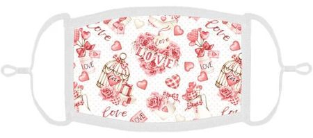 Love Hearts Fabric Face Mask