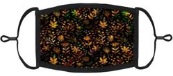 Vibrant Fall Floral Fabric Face Mask