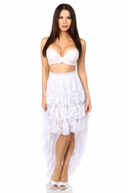 White High Low Lace Skirt - IN STOCK