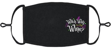 """Witch Way to the Wine?"" Fabric Face Mask"