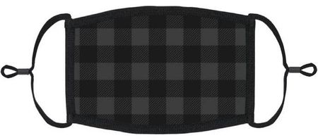 XLARGE Black Buffalo Plaid Fabric Face Mask