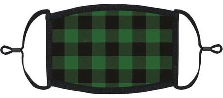 XLARGE Green Buffalo Plaid Fabric Face Mask
