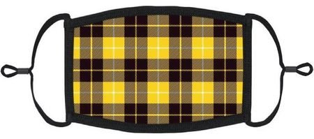 Yellow Plaid Fabric Face Mask