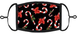YOUTH SIZE - Candy Canes Fabric Face Mask