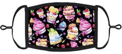 YOUTH SIZE - Cupcakes Fabric Face Mask