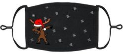 YOUTH SIZE - Dabbing Reindeer Fabric Face Mask