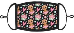 YOUTH SIZE - Gingerbread Fabric Face Mask