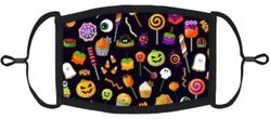 YOUTH SIZE - Halloween Candy Fabric Face Mask