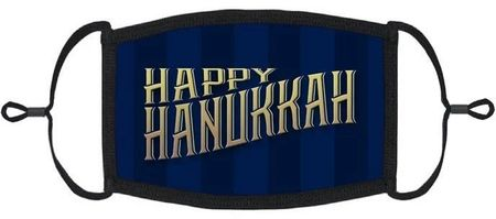 "YOUTH SIZE - ""Happy Hanukkah"" Fabric Face Mask"